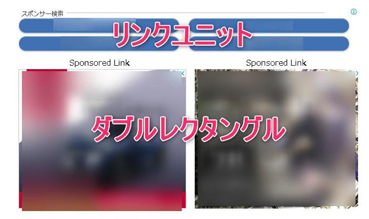 リンクユニットとダブルレクタングルが配置された画像