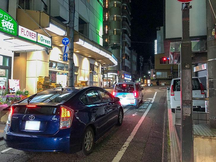 金沢煮干しセンター前 道路