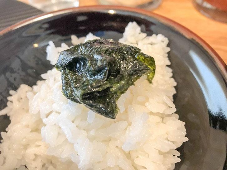 ご飯と海苔