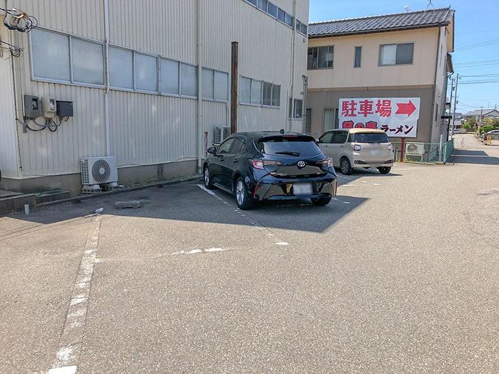 ラーメン日の出駐車場1