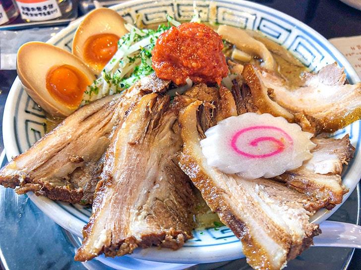 ちゃーしゅうや武蔵のからし味噌ちゃーしゅう麺