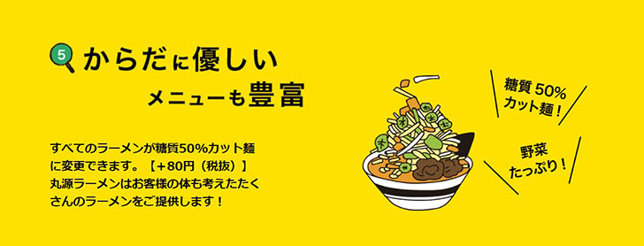 糖質カット麺の提供