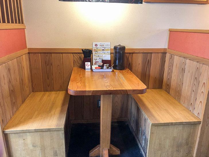 客野製麵所 テーブル席