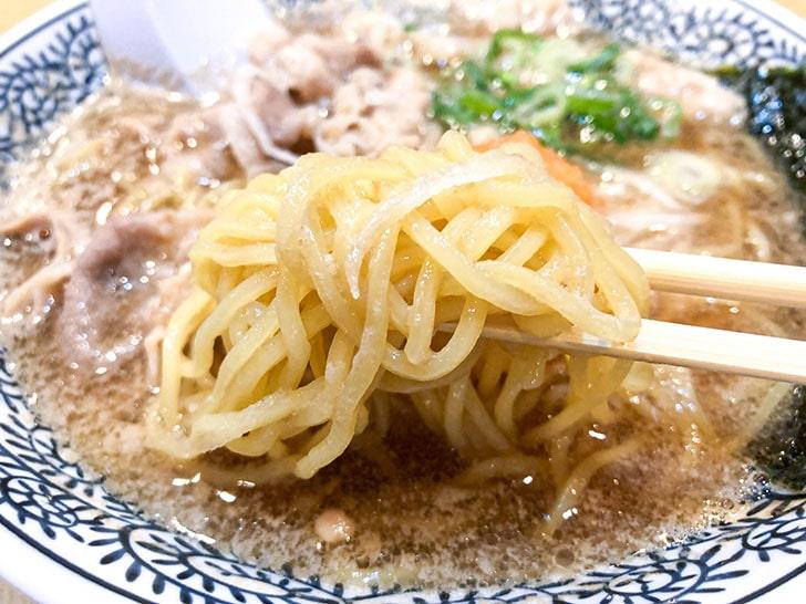 丸源ラーメン 細麺