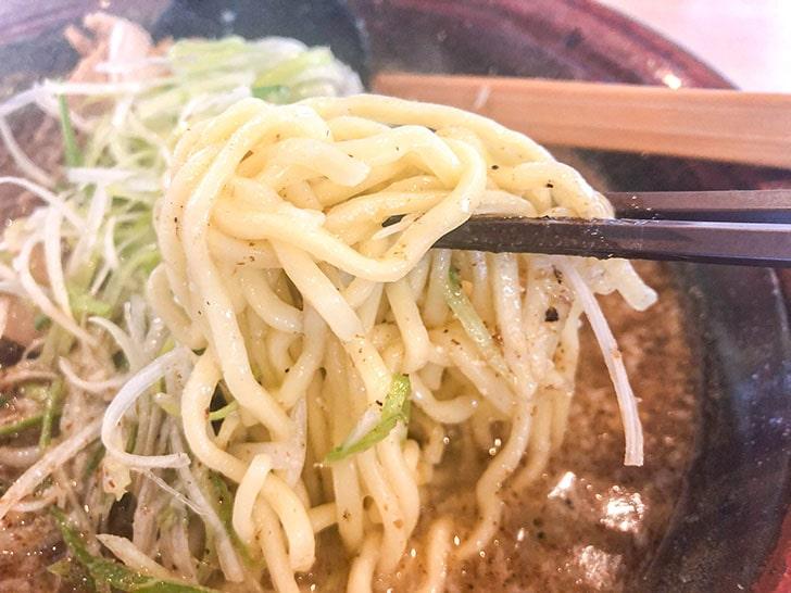 らーめん むてっぽう 金沢店 麺