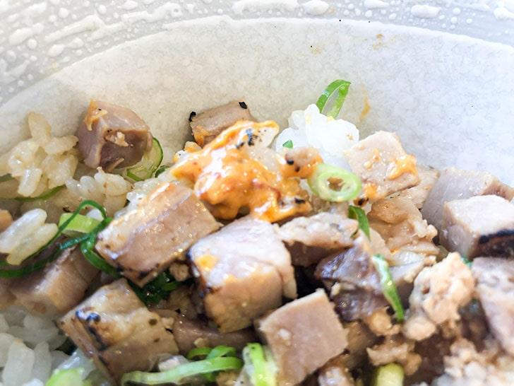 自家製麺 のぼる チャーシュー丼 からしマヨネーズ