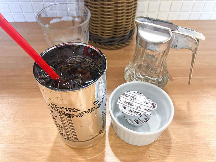 食堂 みはらや 食後のアイスコーヒー