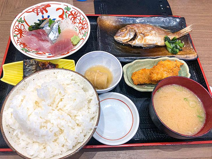 魚がし食堂 金沢中央市場店 お魚ランチ定食