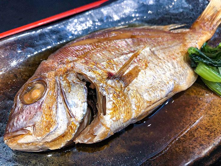 魚がし食堂 金沢中央市場店 鯛の煮つけ