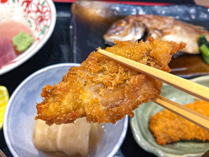 魚がし食堂 金沢中央市場店 アジフライ