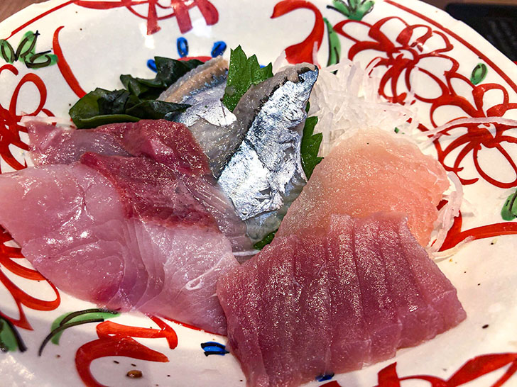 魚がし食堂 金沢中央市場店 刺身の盛り合わせ