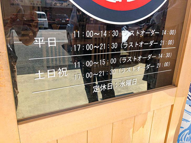 魚がし食堂 金沢中央市場店 営業時間