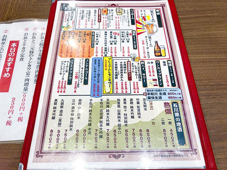 魚がし食堂 金沢中央市場店 メニュー4