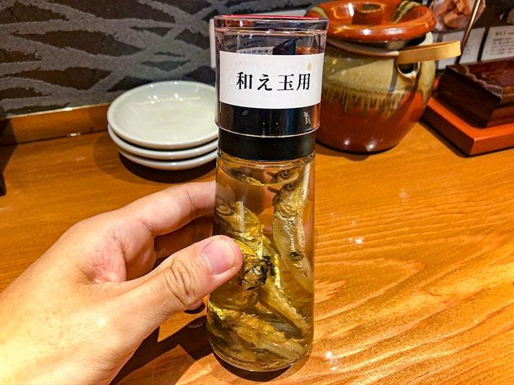 金沢濃厚煮干豚骨 伊乃心 和え玉用煮干し酢