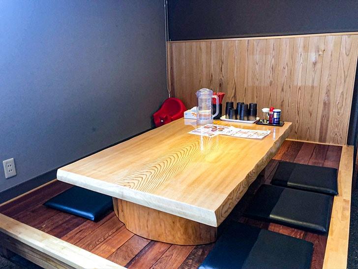 札幌海老麺舎 金沢銭五店 座敷席