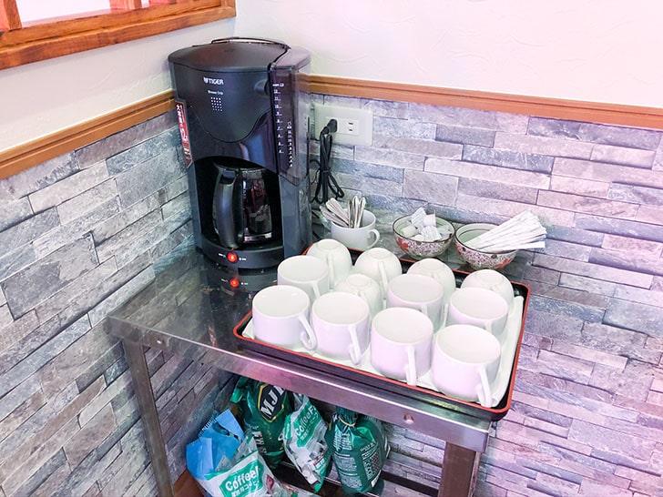 小雪 小柳店 ランチの1杯無料のコーヒー