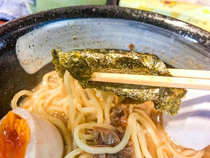 らぅめん とみ軒 特製カツオらぅめん 麺と海苔