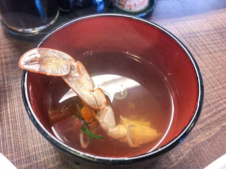 てきさす カニのスープ