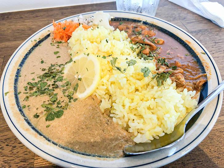 ムライ食堂 2種盛カレー