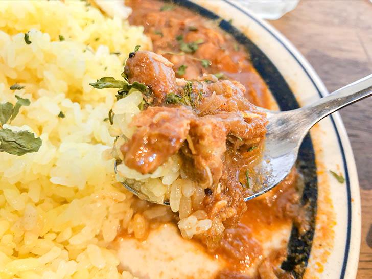 ムライ食堂 トマトチキンカレーとご飯
