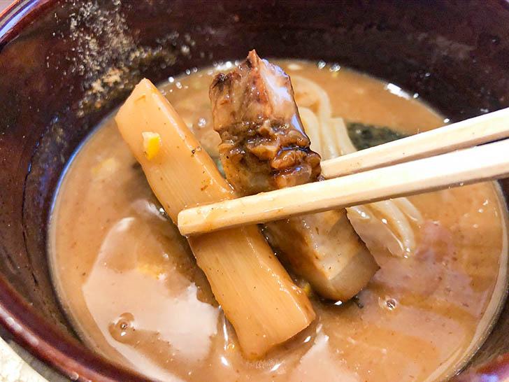 自家製麺 つけ麺桜 つけ汁の具材