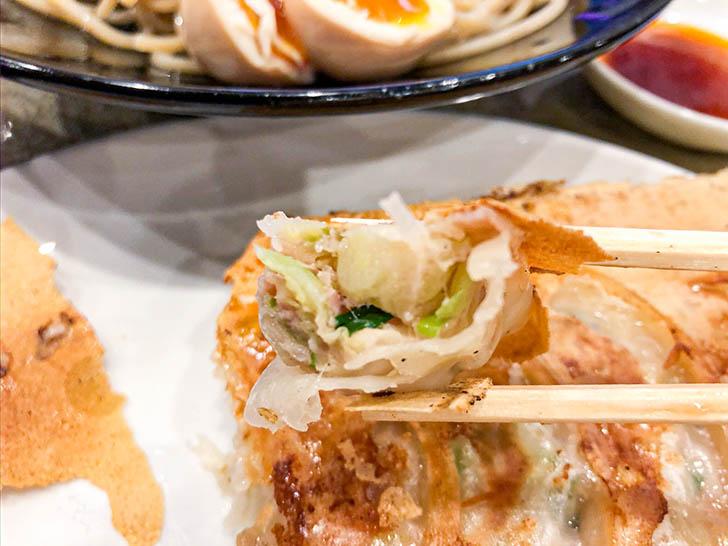自家製麺 つけ麺桜 野菜たっぷりの餃子