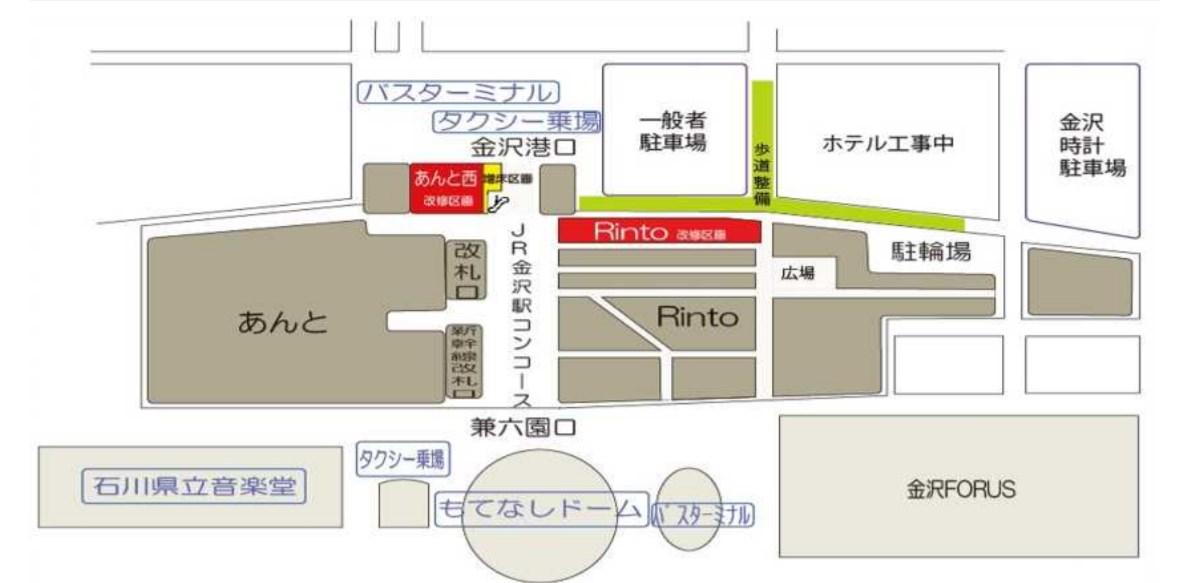 金沢駅平面図