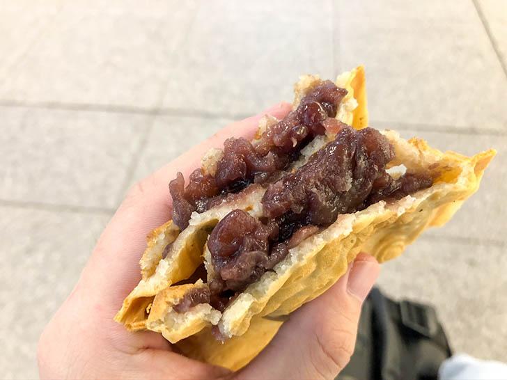 たい焼き工房 土九 金沢駅あんと店 たっぷりのあんこ