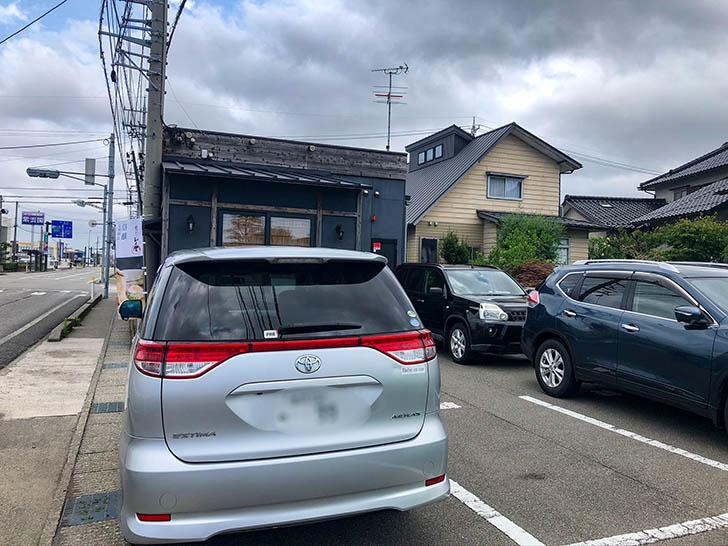 麺屋 はち丸 駐車場2