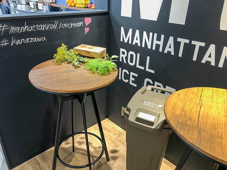 マンハッタンロールアイス クロスゲート金沢 飲食スペース
