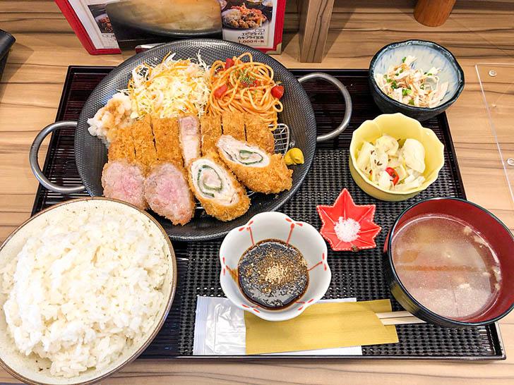 キッチン二郎 カツ3種盛り定食