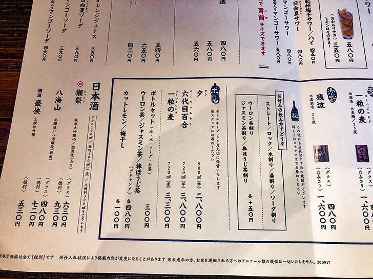 塚田農場 金沢駅西口店 メニュー5