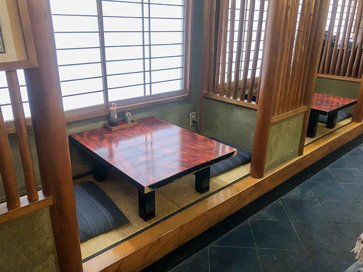金水寿司 小上がり席