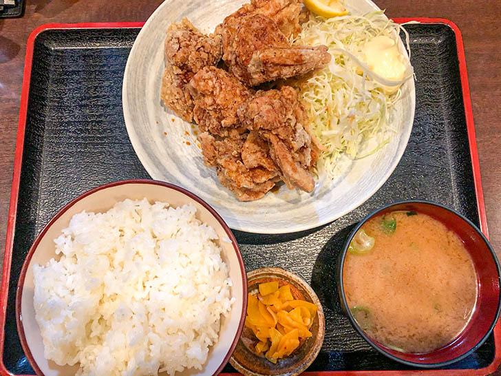 豚菜や とんくん 唐揚げ定食ご飯大