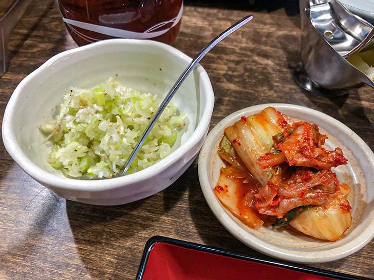 焼肉ひろ亭 ネギ塩、キムチ