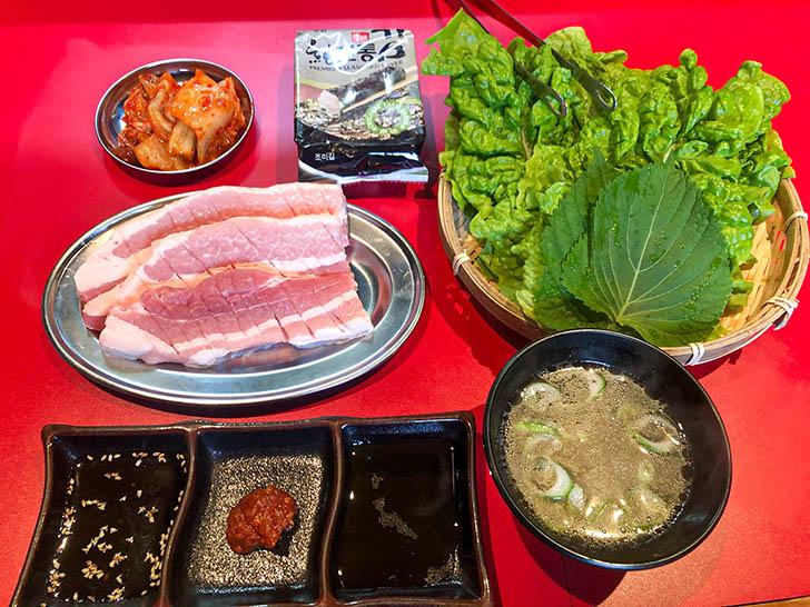 韓国焼肉7 サムギョプサルランチ