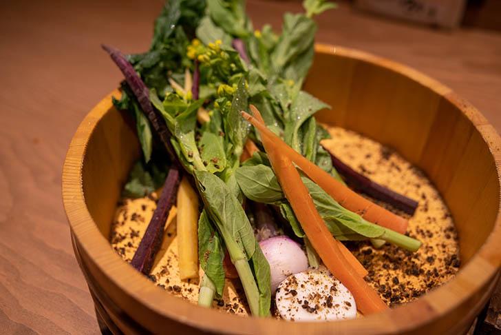 金沢炉端 あっぱれ 無農薬の野菜