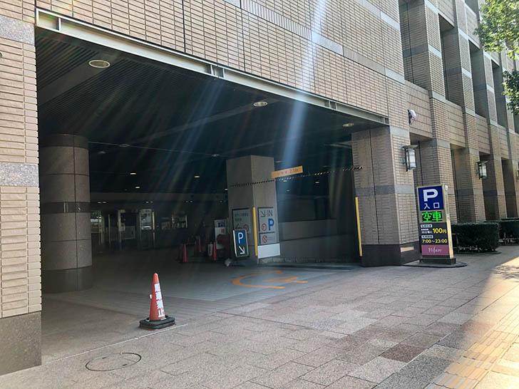 リファーレ駐車場入口