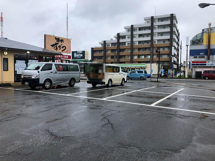 焼肉すぎの 野々市店 駐車場