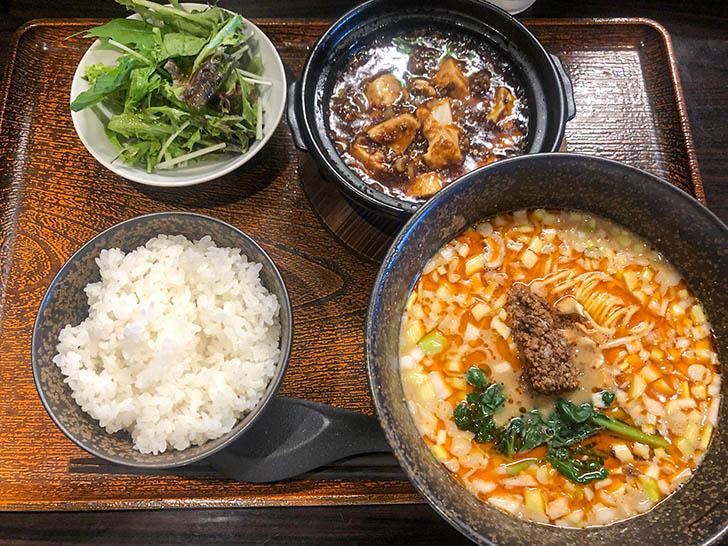China dining 宮燕 ‐クーイン‐ 麻婆豆腐と担々麺セット
