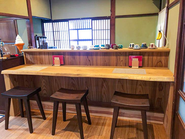町屋cafe くりの樹 カウンター席