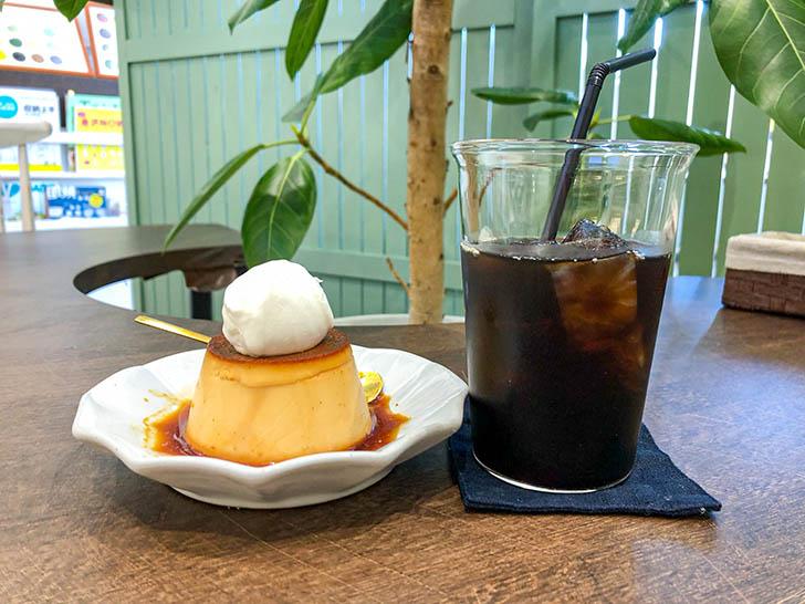 サングラスとカフェMito プリン コーヒー